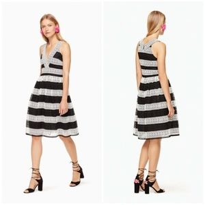 NWOT KATE SPADE Scenic Route Colorblock Lace Dress